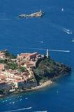 Isola d'Elba-Portoferraio schronienie Fotografia Royalty Free