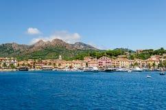 Isola d'Elba (Tuscany, Italien), Porto Azzurro Royaltyfria Foton