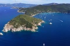 Isola D'ElbaCapo d'Enfola lizenzfreies stockbild