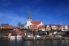 Isola Danimarca di Roenne Bornholm del porto Fotografia Stock Libera da Diritti