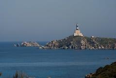 Isola dei Cavoli Lighthouse in Sardinia stock photography