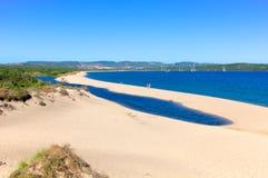 Isola Dei Gabbiani,帕劳,撒丁岛意大利 库存图片