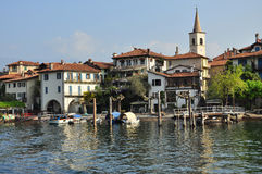 Isola dei Pescatori,斯特雷萨。马焦雷湖,意大利 免版税库存照片