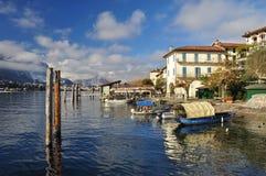Isola dei Pescatori,湖Maggiore,意大利 免版税库存照片