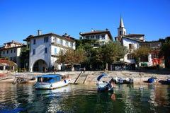 Isola dei Pescatori & x28的风景看法; Fishermens Island& x29; Lago Maggiore,意大利,欧洲 图库摄影