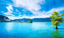 Isola-dei Pescatori, Fischerinsel im Maggiore See, Borromea stockfoto