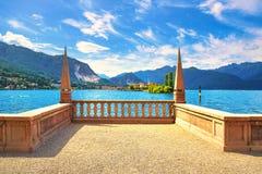 Isola-dei Pescatori, Fischerinsel im Maggiore See, Borromean-Inseln, Stresa Piemont Italien stockbild