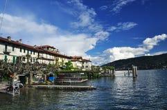 Isola dei Pescatori, Jeziorny Maggiore, Włochy Fotografia Stock