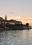 Isola dei Pescatori, Lake (lago) Maggiore, Italy Stock Photo