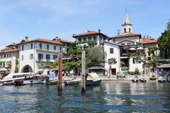 Isola dei Pescatori on Lake Maggiore Stock Photo