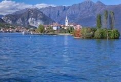 Isola dei Pescatori, Lake Maggiore, Italy. Stock Photos