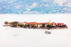 Isola dei Pescatori on Lake Maggiore in Italy Stock Photos