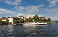 Isola dei Pescatori on Lake Maggiore near Stresa Stock Photography