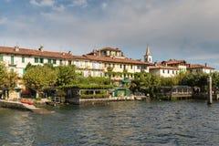 Isola dei Pescatori on Lake Maggiore near Stresa Royalty Free Stock Images