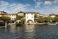 Isola dei Pescatori on Lake Maggiore near Stresa Royalty Free Stock Photos