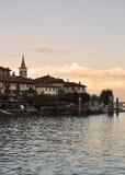 Isola dei Pescatori, sjö (lagoen) Maggiore, Italien Arkivfoto