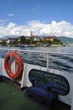 Isola dei Pescatori, sjö (lagoen) Maggiore, Italien Arkivbilder