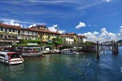 Isola dei Pescatori, sjö Maggiore, Italien royaltyfria foton