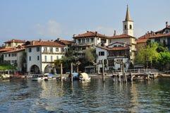 Isola dei Pescatori, Stresa. Sjö Maggiore, Italien Royaltyfri Foto