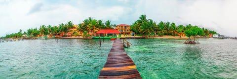 Isola del calafato di Caye fotografia stock libera da diritti