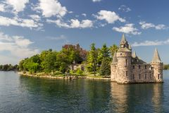 Isola del castello di Boldt in mille isole Canada fotografia stock