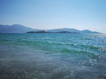 Isola del cavaliere, fethiye, Mugla fotografia stock