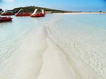 Isola del Cipro del mar Mediterraneo del paesaggio della costa della spiaggia fotografie stock libere da diritti