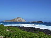 Isola del coniglio, Oahu, Hawai Fotografia Stock