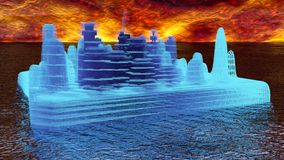Isola del fantasma in futuro royalty illustrazione gratis