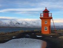 Isola del faro all'inverno immagini stock libere da diritti