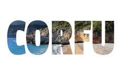 Isola del Greco di Corfù fotografia stock