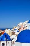 Isola del Greco di santorini delle Cicladi di architettura Fotografie Stock Libere da Diritti