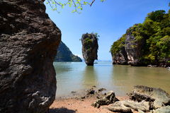 Isola del James Bond Khao Phing Kan Baia di Phang Nga thailand Immagine Stock