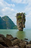 Isola del James Bond, Phang Nga, Tailandia Immagine Stock