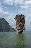 Isola del James Bond, Phang Nga, Tailandia Fotografie Stock Libere da Diritti