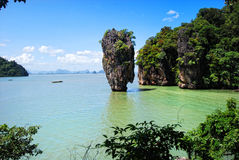 Isola del James Bond in Tailandia Fotografia Stock