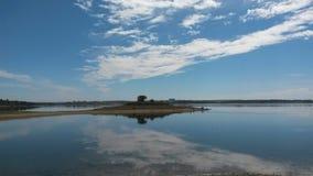 Isola del lago Alqueva Fotografie Stock Libere da Diritti