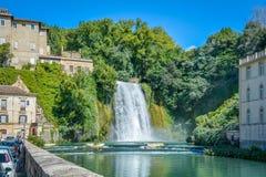 Isola del Liri, small town in the province of Frosinone, Lazio, central Italy. stock photo