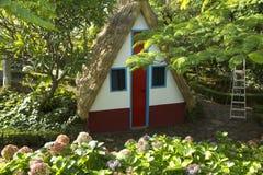 Isola del Madera. Casa triangolare classica. Fotografia Stock