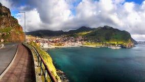 Isola del Madera, paesaggio della costa di Machico Immagine Stock Libera da Diritti