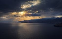 Isola del Madera, Portogallo al tramonto Immagini Stock