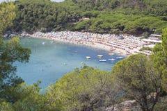 Isola del mare di Elba Fotografia Stock