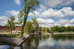 Isola del mulino e fiume di Brda in Bydgoszcz Immagini Stock Libere da Diritti