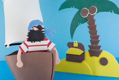 Isola del pirata, giocattolo Fotografia Stock Libera da Diritti