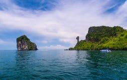 Isola del pollo o di Koh Kai nel mare delle Andamane Fotografie Stock