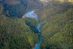 ISOLA DEL SUD, LA NUOVA ZELANDA 25 MAGGIO 2017: Bello fiume del turchese e del paesaggio, nelle alpi del sud del sud del ` s di W Fotografie Stock