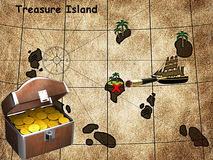 Isola del tesoro Immagine Stock Libera da Diritti