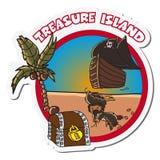 Isola del tesoro Immagini Stock Libere da Diritti