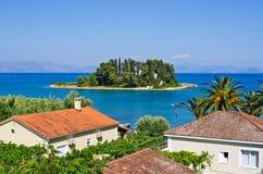 Isola del topo (Pontikonissi) su Corfù, Geece Immagine Stock Libera da Diritti