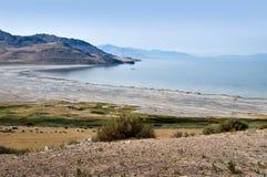 Isola dell'antilope, Gran Lago Salato, U.S.A. immagini stock libere da diritti